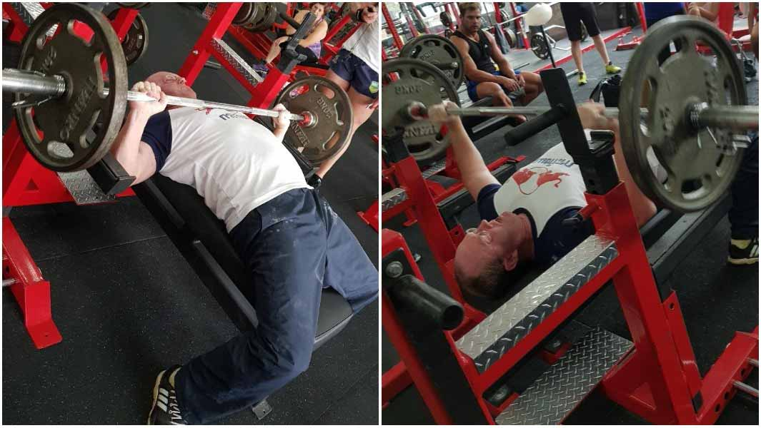 Video Powerlifting Champion Beats Challenging Bench Press Record By