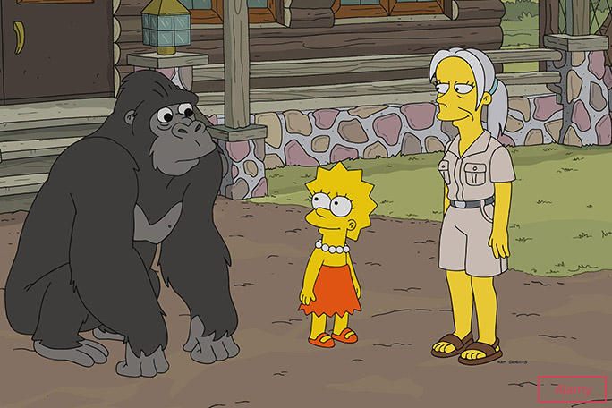 The Simpsons has featured cameos by hundreds of celebrities over the decades, including conservationist and fellow GWR Hall of Fame inductee, Jane Goodall
