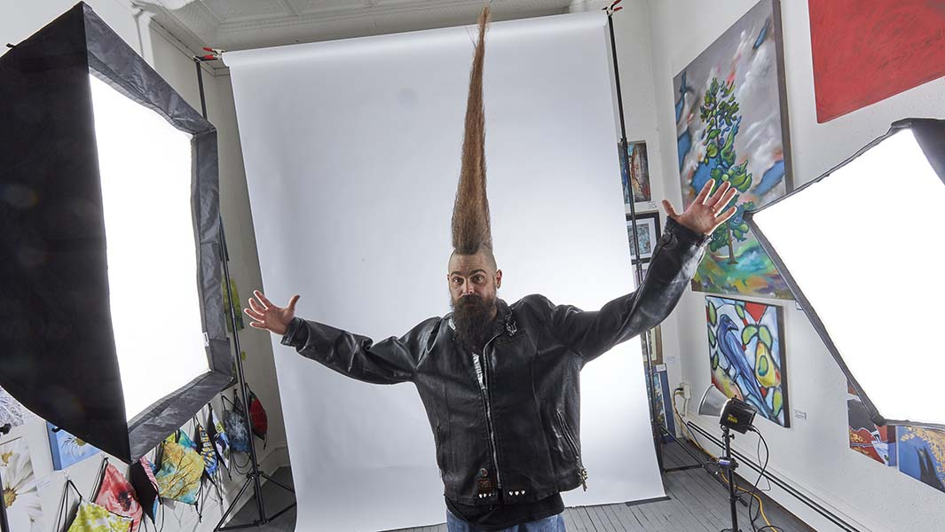 World's tallest mohawk takes the Guinness World Records 2021 edition to new heights