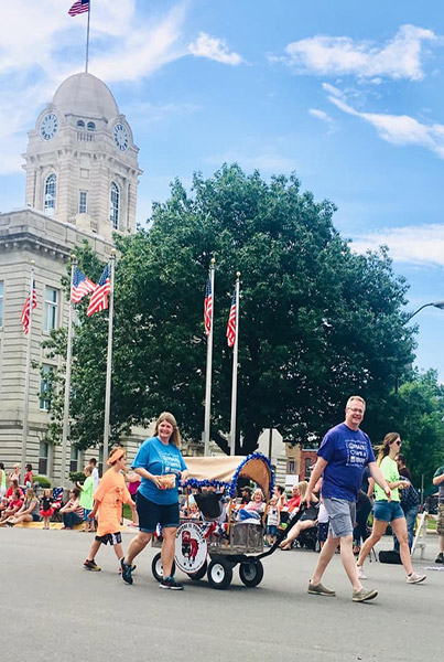 Joy has now become a local celebrity in Newton, Iowa, even appearing in local events such as the July 4th parade