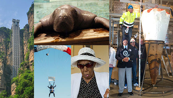 2015 in World Records - July: A new oldest person, a giant ice-cream and the tallest outdoor lift