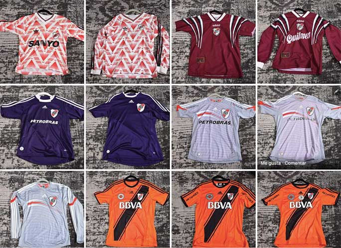 Special one-off River Plate shirts