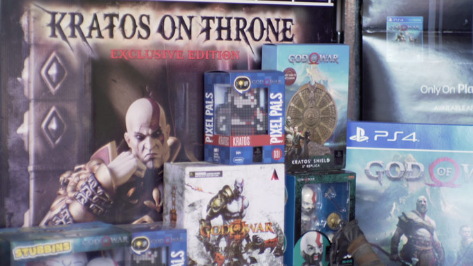Largest collection of God of War memorabilia items