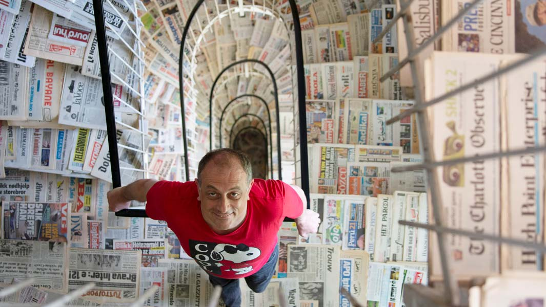 Meet the man with the largest collection of newspaper titles in the world