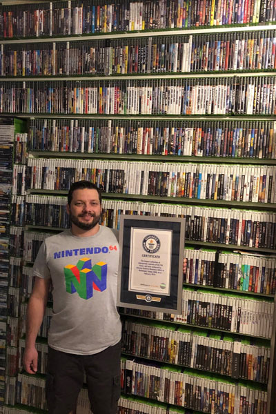 Largest collection of videogames
