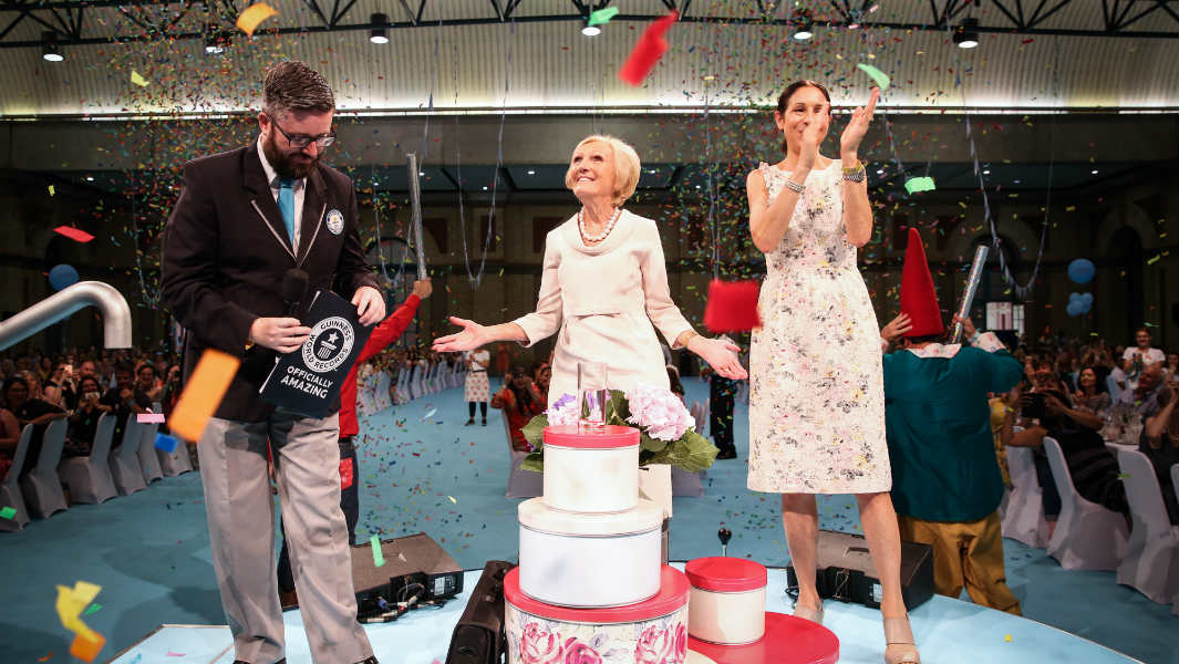 Mary Berry and Cath Kidston host world's largest tea party with nearly 1,000 guests