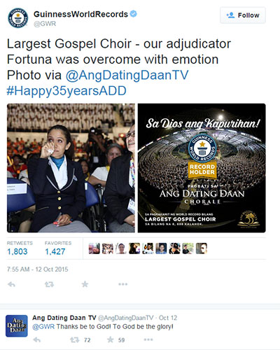 ang dating daan chorale group