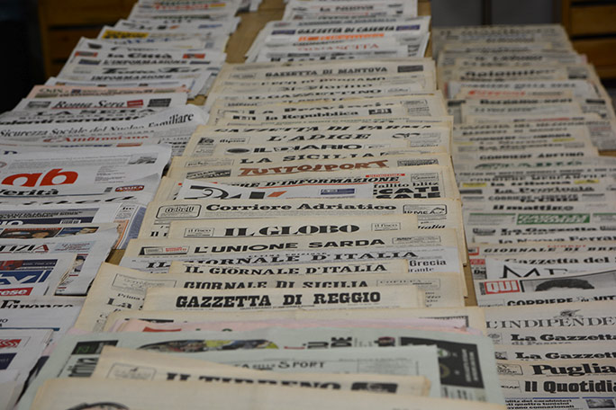 Largest newspapers collection