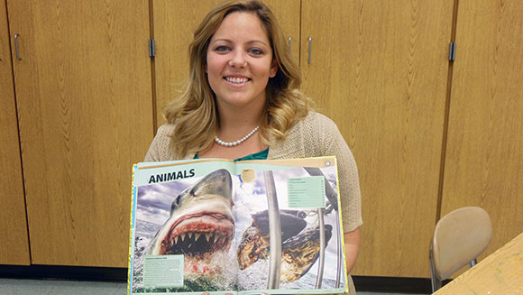 American school teacher finds her amazing shark photo in Guinness World Records 2016
