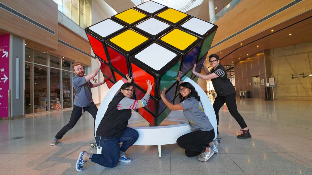 Science museum visitors invited to solve the world's largest Rubik's Cube