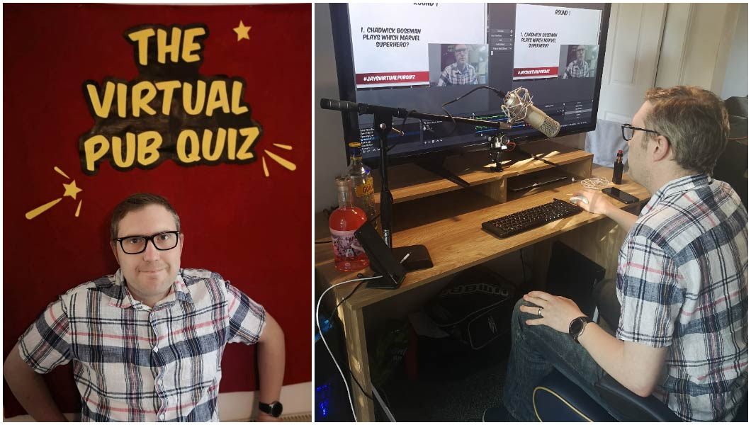 largest-virtual-pub-record-Jay-recording-quiz-in-front-of-sign.jpg