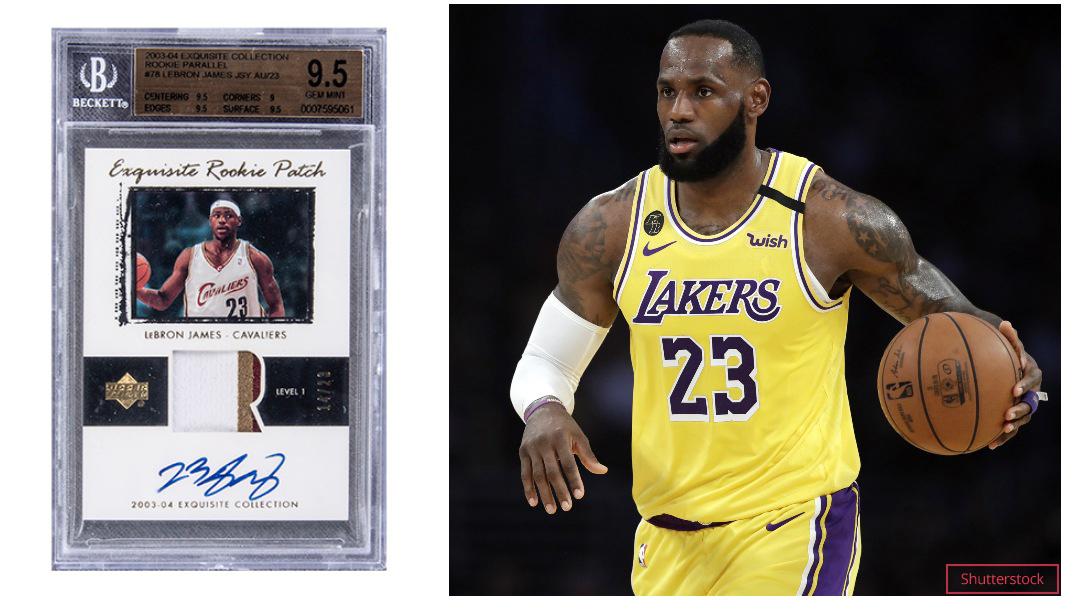 Lebron James Trading Card Sells For A Record Breaking 1 845 Million Guinness World Records
