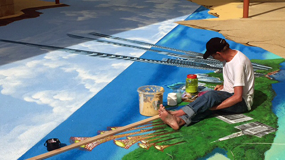 Singapore celebrates anniversary of its independence by creating epic anamorphic pavement art