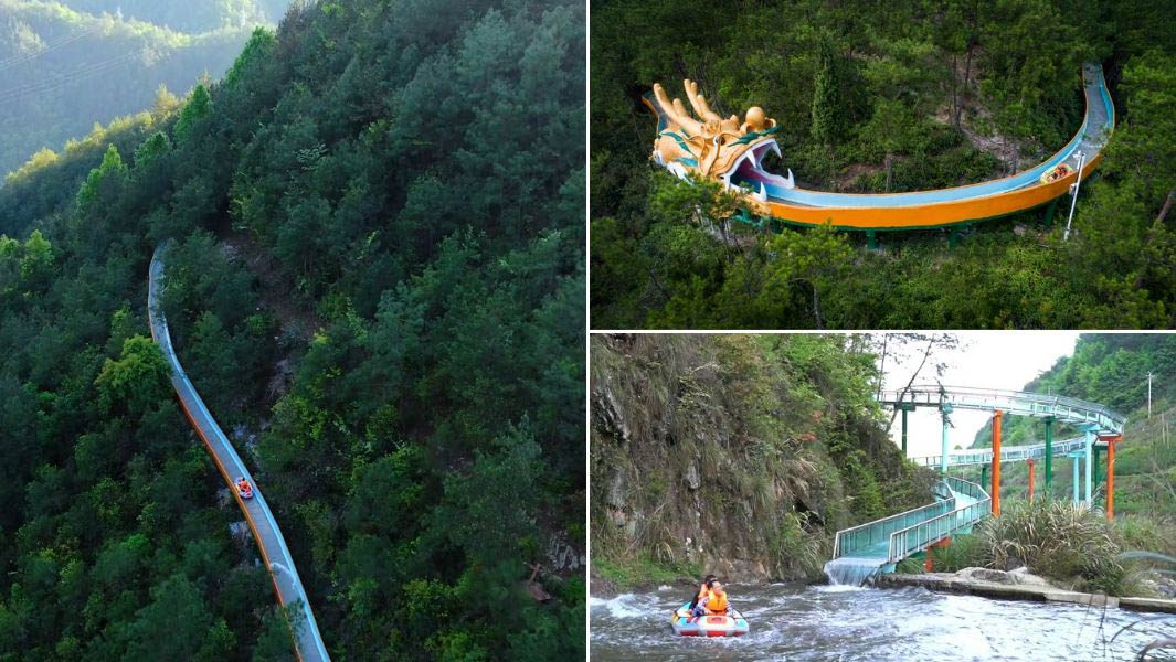 The longest mountain/hillside water slide is 2,723.08 m (8,933 ft 11 in) in China