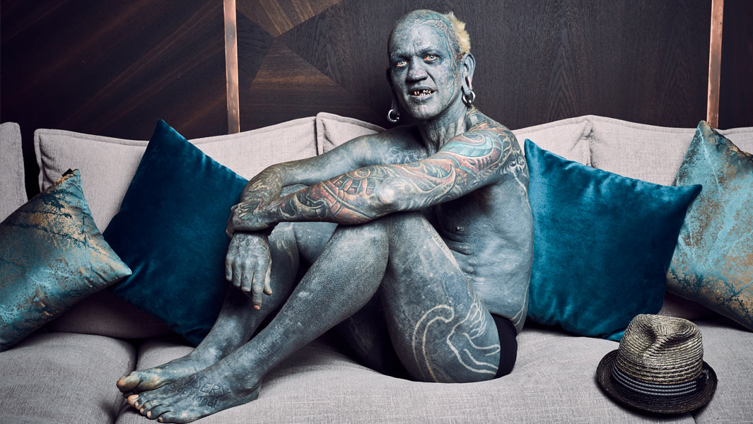 'I'm no different to anyone else' - meet Lucky Diamond Rich, the world's most tattooed man
