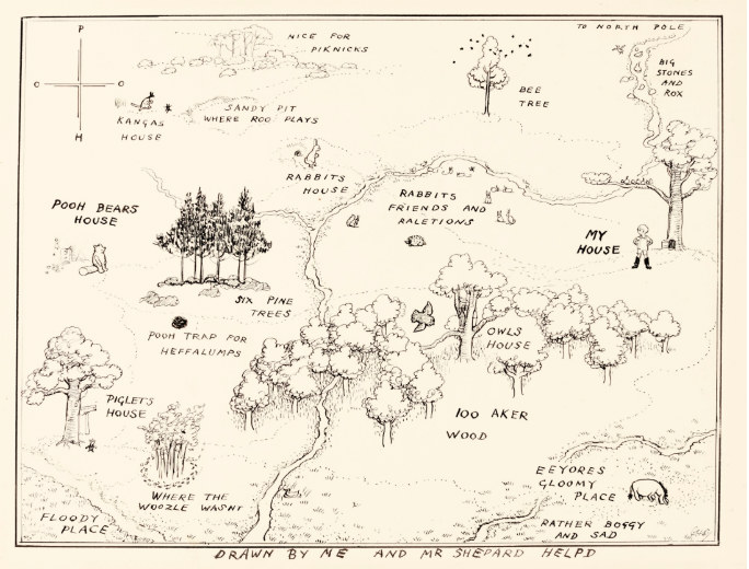 Winnie The Pooh Map Winnie the Pooh map breaks record for most expensive book  Winnie The Pooh Map