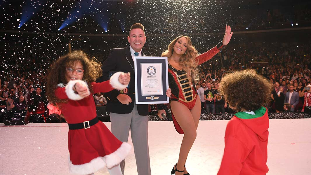 "Mariah Carey's ""All I Want For Christmas Is You"" breaks chart-topping record"