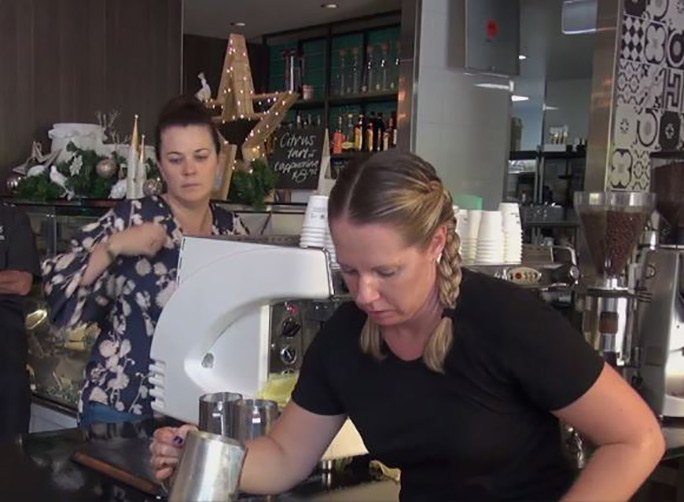 Most cappuccinos made in one hour Liza Thomas Australia