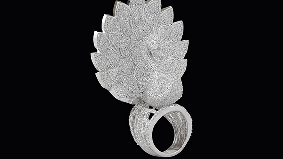 Be dazzled by this £1.7 million ring and its 3,827 record-breaking diamonds
