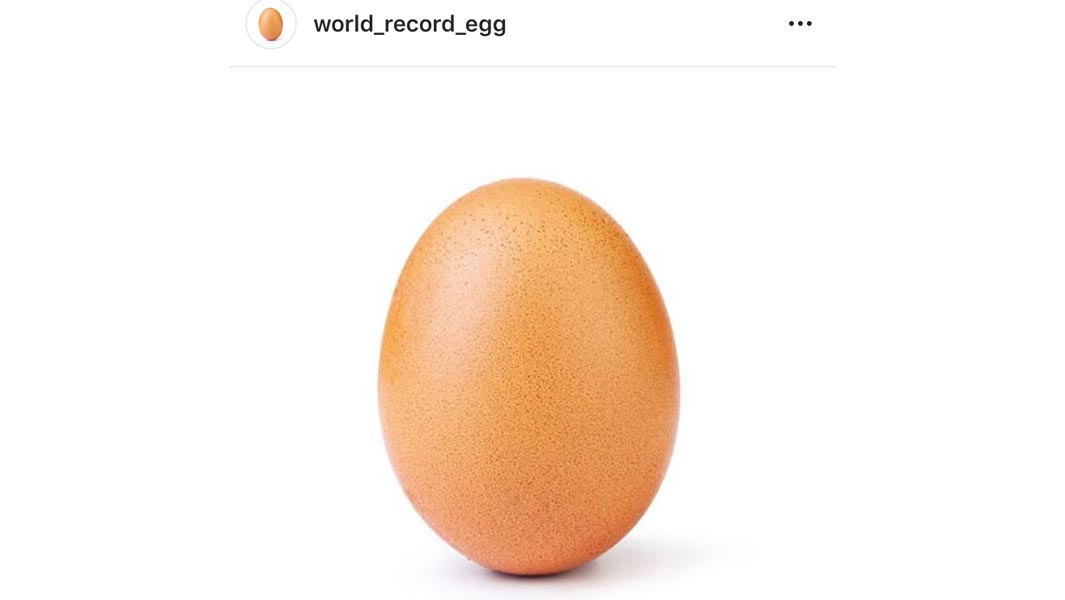 Egg photo breaks Kylie Jenner's record for most liked image on Instagram
