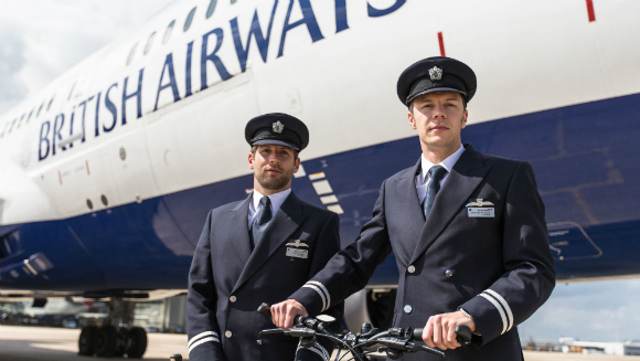 British Airways Pilots Make History On Two Wheels By
