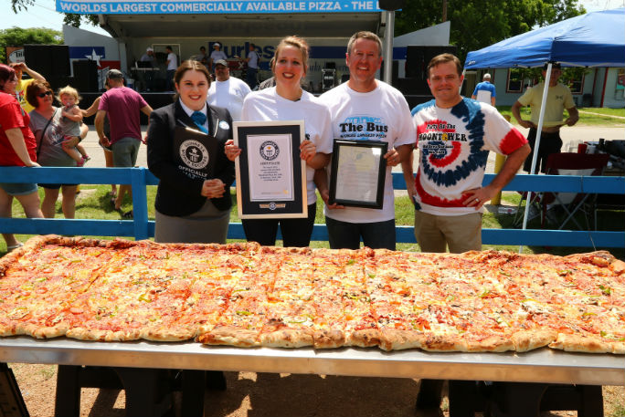 Largest pizza commercially available 6