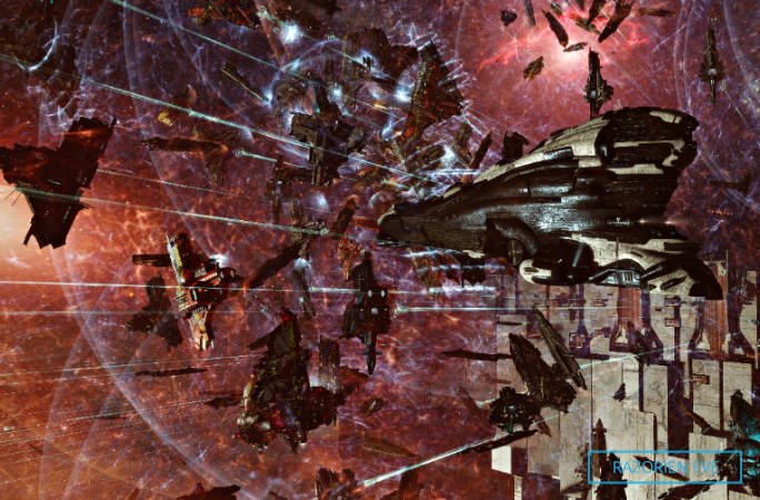 ships shooting in the most concurrent participants in a multiplayer videogame PvP battle