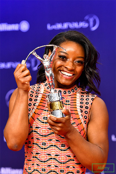 Simone won her third Laureus World Sports Award in early 2020