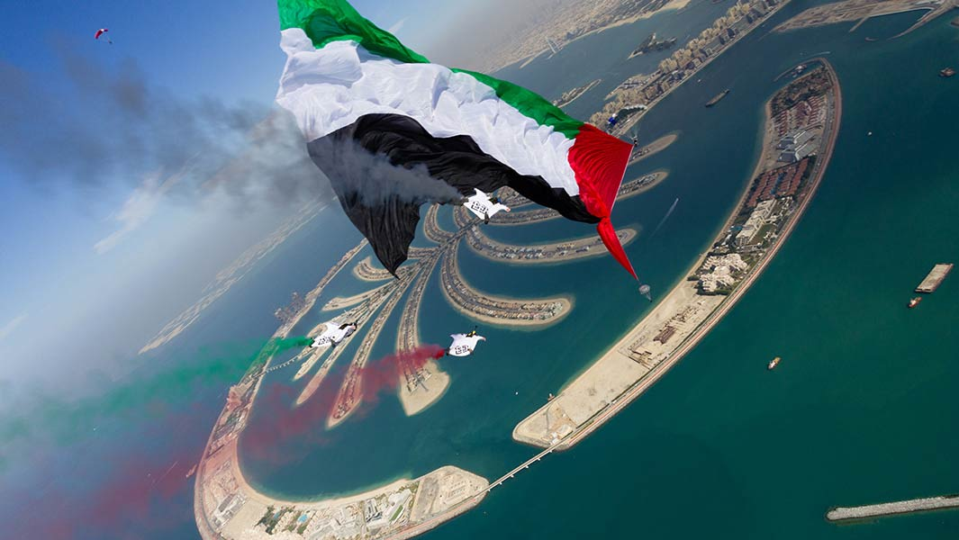 Football pitch-size flag flown during skydive sets new record