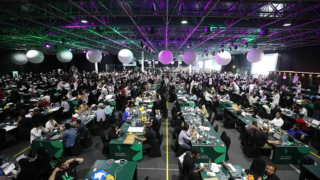 Software developers attend record breaking hackathon in Saudi