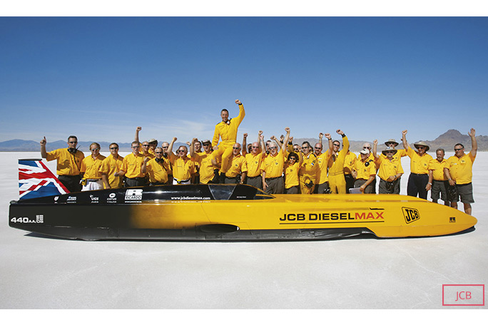 The JCB Dieselmax that Andy Green piloted to the fastest diesel land speed record in 2006