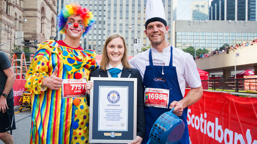 Become a record holder at the 2018 Scotiabank Toronto Waterfront Marathon