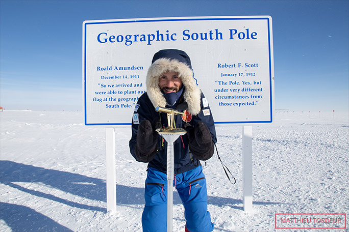 Youngest person reach Geographic South Pole Mathhieu Tordeur