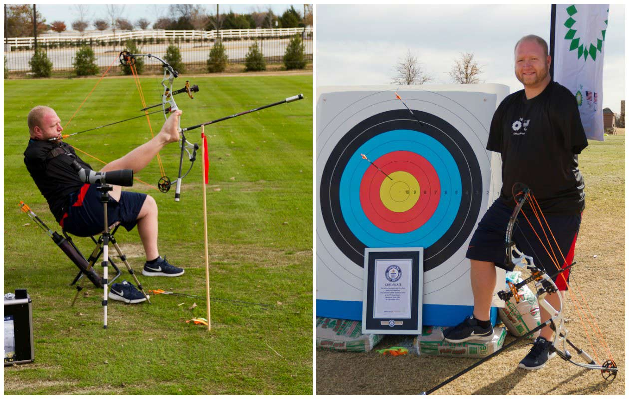 Men's archery - farthest accurate distance