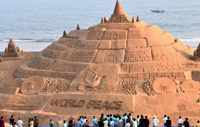 world tallest sand castle