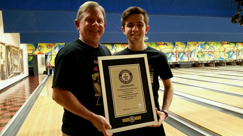 Highest pinfall in tenpin bowling in 24 hours by a pair