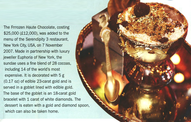 Most expensive dessert