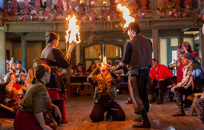 Fire eating - most torches extinguished in 30 seconds
