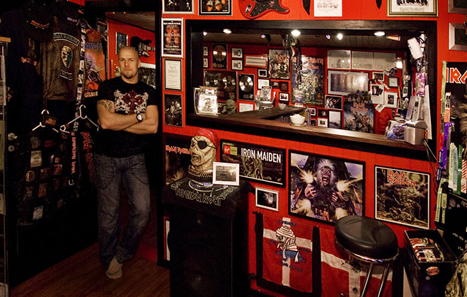 Largest collection of Iron Maiden memorabilia