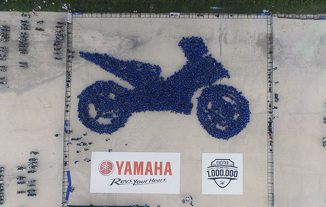 Largest human image of a motorcycle