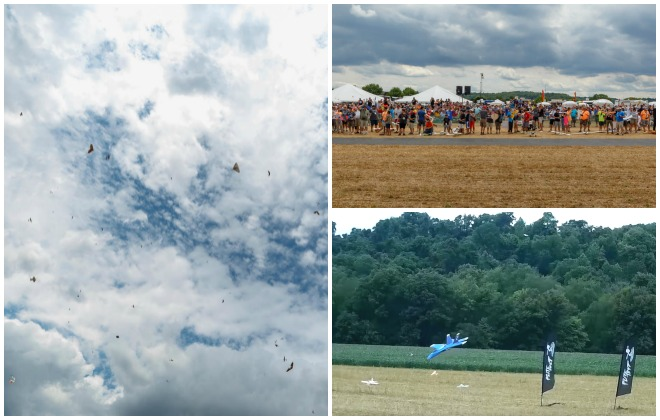 Most RC model aircraft airborne simultaneously