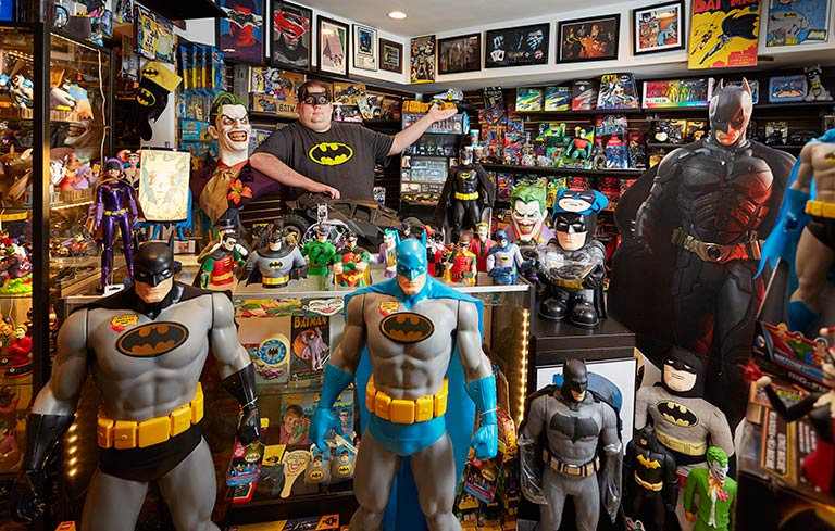 Largest collection of Batman memorabilia