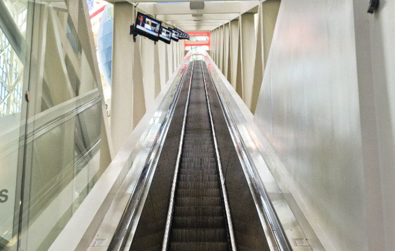 Longest freestanding escalator