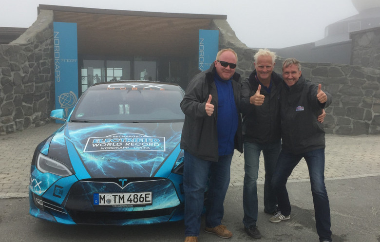 Shortest charging time to cross Europe (Nordkapp, Norway to Tarifa, Spain) in an electric vehicle