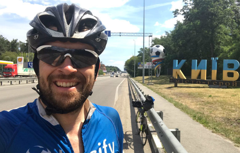 Fastest bicycle journey across Eurasia
