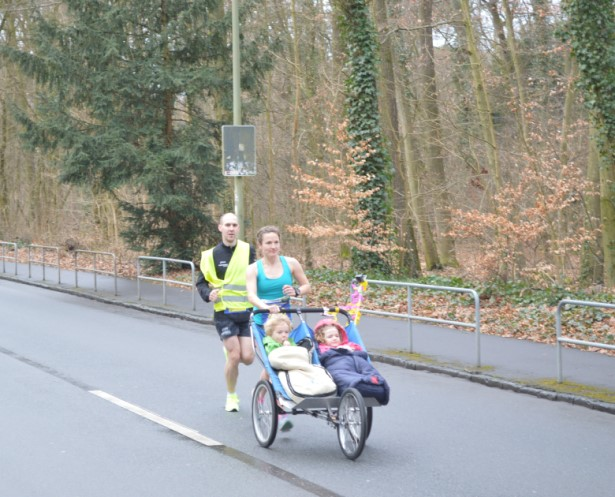 Fastest half marathon pushing a double pram (female)