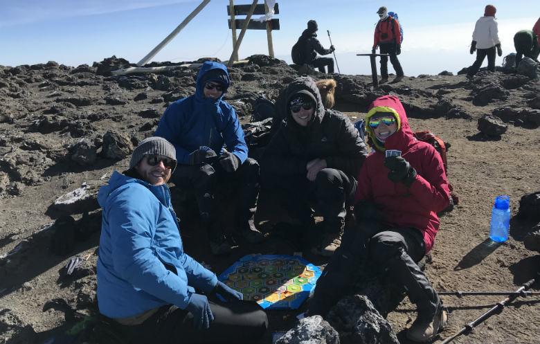 Highest altitude playing a board/party game
