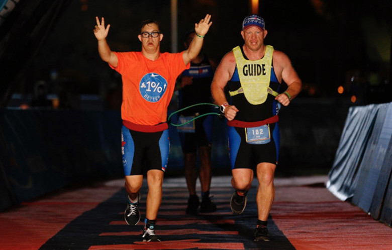 First person with Down's syndrome to complete an IRONMAN® triathlon