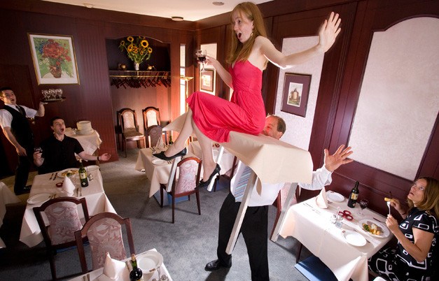 Longest distance keeping a table lifted with teeth