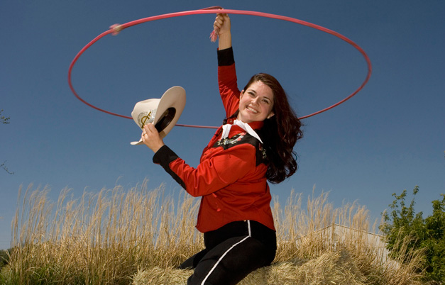 Largest trick roping loop  by a female